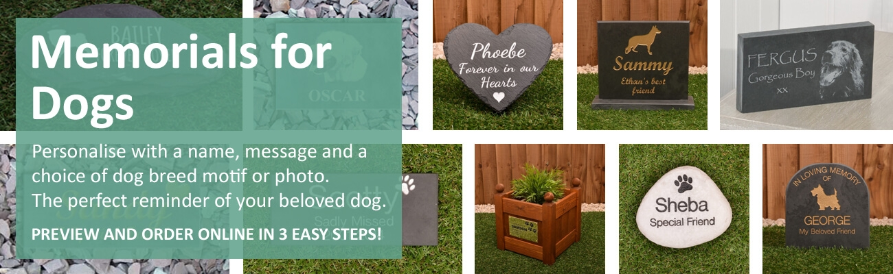 Memorials for dogs - click to shop