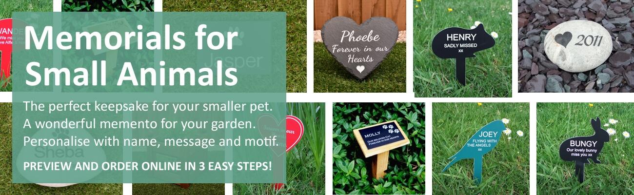 Memorials for small animals- click to shop